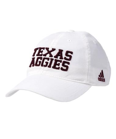 Adidas Texas Aggies Adjustable Slouch Cap White