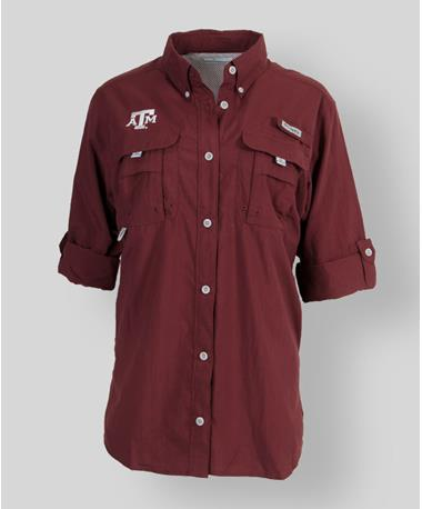 Columbia Texas A&M Womens Bahama Long Sleeve - Maroon - Front Maroon