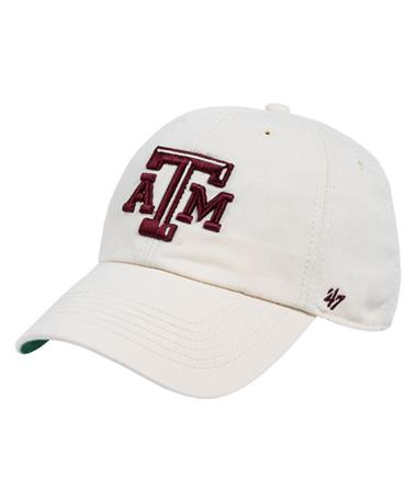 `47 Brand Texas A&M Beveled Franchise Cap Front Natural