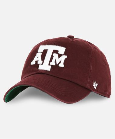 `47 Brand Texas A&M Franchise Block Hat Front Maroon