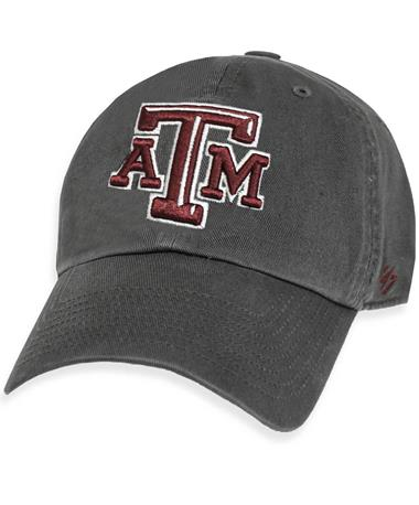 Texas A&M `47 Brand Beveled Clean Up Cap - Charcoal - Front Charcoal