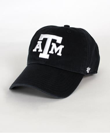 `47 Brand Texas A&M Block Clean Up Cap Navy Front Navy