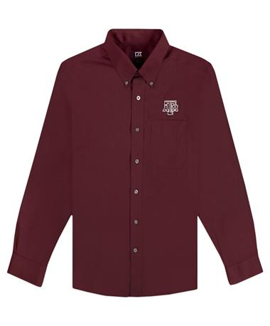 Texas A&M Cutter & Buck Epic Nailshead Button Down