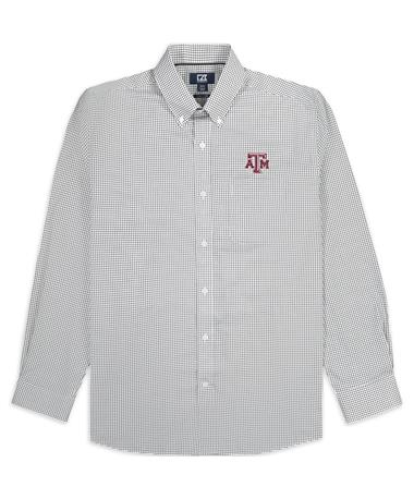 Texas A&M Cutter & Buck Epic Tattersall Button Down Shirt