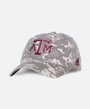 Adidas Texas A&M Digital Camo Slouch Hat Front Camo