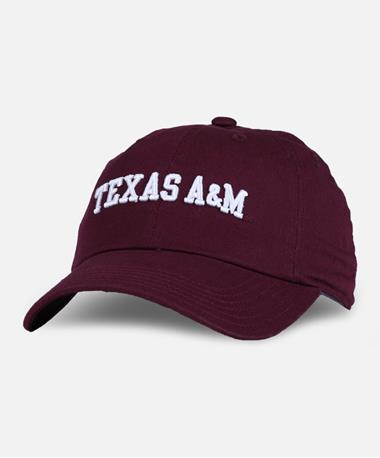 Adidas Texas A&M Adjustable Slouch Cap Maroon Front Maroon