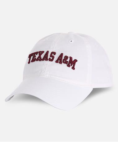 Adidas Texas A&M Adjustable Slouch Cap White Front White