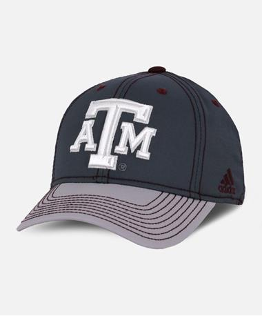 Texas A&M Two Tone Structured Flex Hat Front Grey