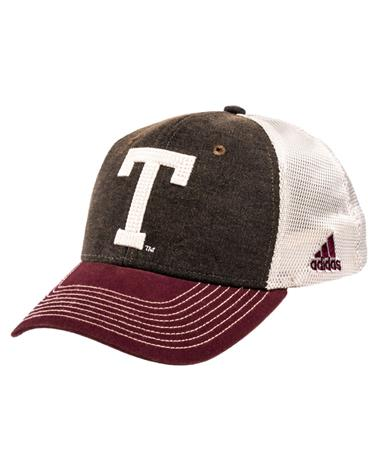 Adidas Texas Aggies Vault T Adjustable Slouch Hat Front Grey/Mar