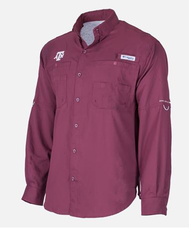 Columbia Texas A&M Tamiami Long Sleeve Maroon