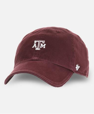 `47 Brand Texas A&M Aggie Centerfield Clean Up Cap Maroon Front Maroon