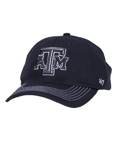 a4b99454703 Texas A M `47 Brand Taylor Closer Fitted Cap - Front Black