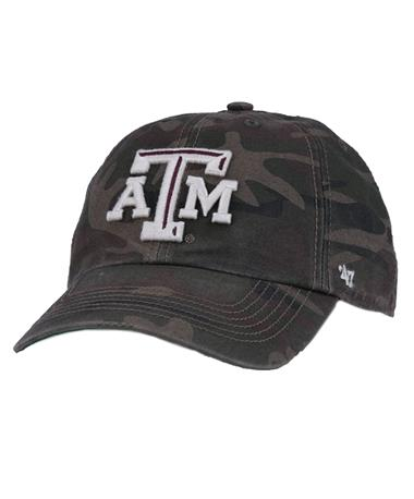 `47 Brand Texas A&M Harlan Franchise Cap Front Camo