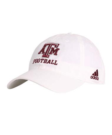 Adidas Texas A&M Aggie Football Cap - White - Front White