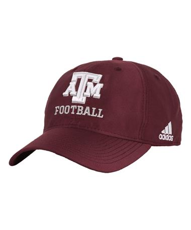 Adidas Texas A&M Aggie Football Cap - Maroon - Front Maroon