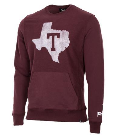 `47 Brand Texas Block Tri State Pullover Maroon