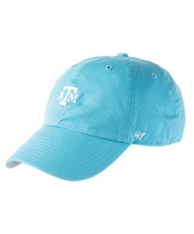 `47 Brand Texas A&M Block Base Runner Cap - Caribbean Blue - Front Caribbean Blue
