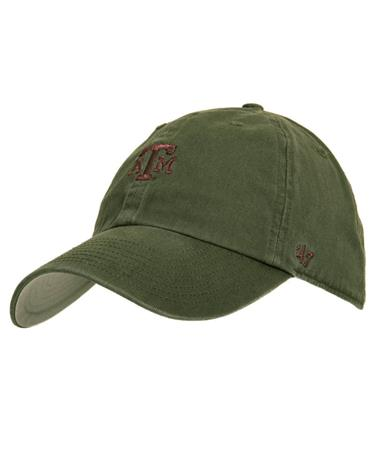 `47 Brand Texas A&M Block Base Runner Cap - Moss - Front Moss