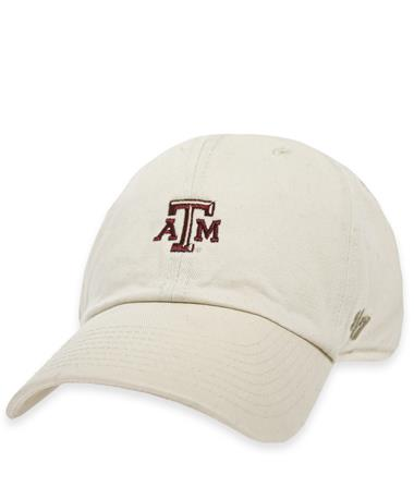 Texas A&M `47 Brand Beveled Base Runner Cap - Natural - Front Natural