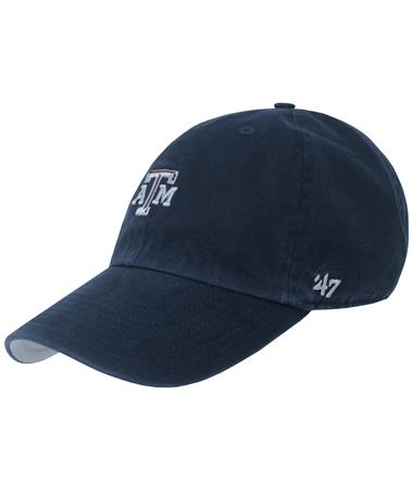 Texas A&M `47 Brand Beveled Base Runner Cap - Navy - Angled Navy