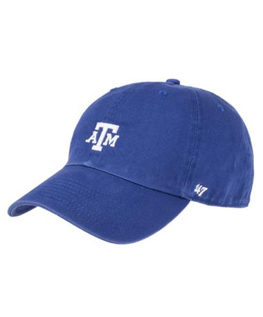 `47 Brand Texas A&M Block Base Runner Cap - Royal - Front Royal