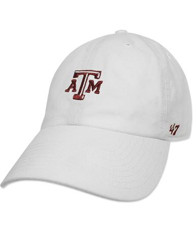 Texas A&M `47 Brand Beveled Base Runner Cap - White - Front White