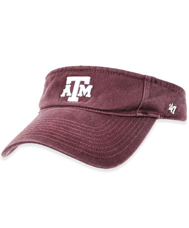 Texas A&M `47 Brand Block Clean Up Visor - Maroon - Front Maroon