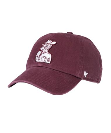 `47 Brand Texas A&M Sarge Clean Up Cap Front Maroon