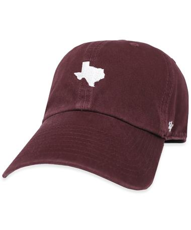 Maroon '47 Brand State of Texas Base Runner Cap