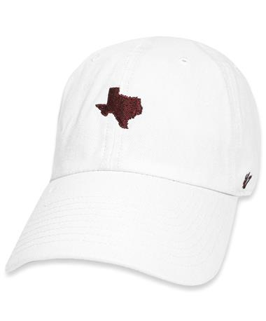 Maroon `47 Brand State of Texas White Base Runner Cap - Front White