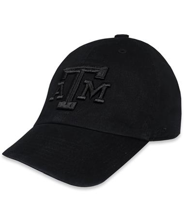Texas A&M `47 Brand Bevel Tonal Clean Up - Black - Front Black