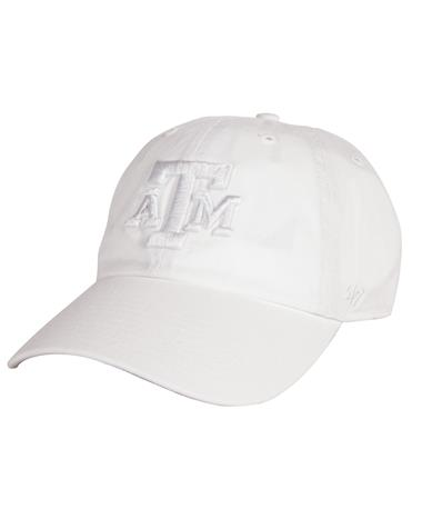Texas A&M `47 Brand Block Tonal Clean Up - White - Front White