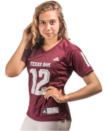 Adidas Texas A&M Women`s Replica Football Jersey - Angle Maroon