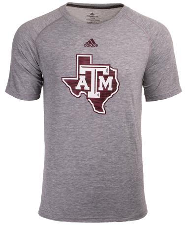 Adidas Texas A&M Lone Star Sideline Short Sleeve - Grey - Front Grey