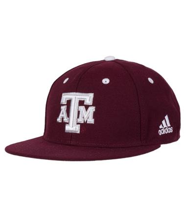 Adidas Texas A&M Maroon On Field Cap - Front Maroon