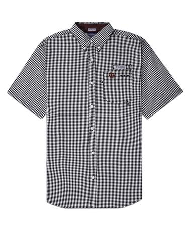 Texas A&M Columbia Super Harborside Button Down - Front Black
