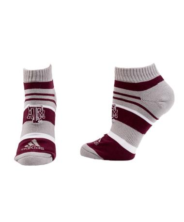 Adidas Texas A&M Aggie Ankle Sock Maroon_Grey