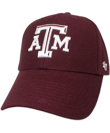 Texas A&M `47 Brand Beveled MVP Cap - Maroon - Front Maroon