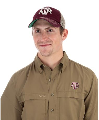2018 `47 Brand Texas A&M OHT Trawler Cap - Front Maroon