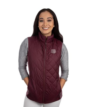 Texas A&M Cutter & Buck Ladies Sandpoint Vest