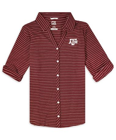 Texas A&M Cutter & Buck Ladies Academy Button Down