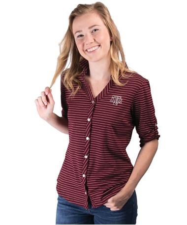 Texas A&M Cutter Buck Ladies Academy B-front Maroon