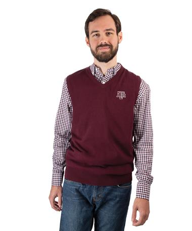 Cutter & Buck Texas A&M Lakemont Vest Maroon