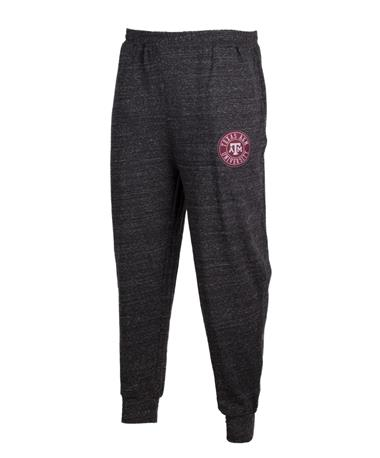 Texas A&M Aggie Patch Mens Jogger Pants Charcoal