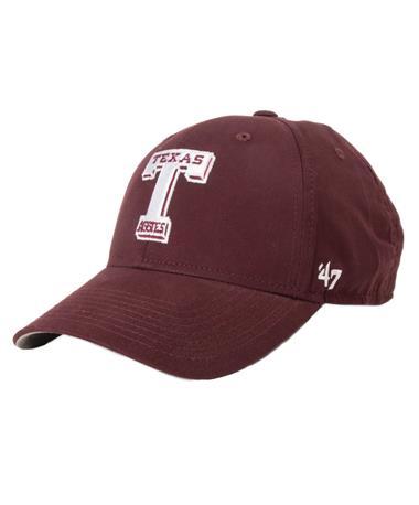 2018 `47 Brand Texas A&M Vault T MVP Cap Maroon Front Maroon