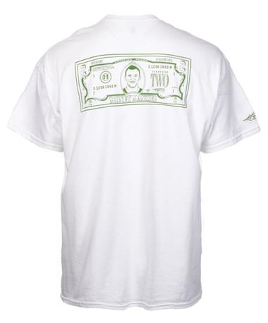 2 Bill Money Manziel Short Sleeve T-Shirt - Back WHITE
