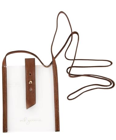 MB Greene iPhone Plus Clear Cross Body - Front CLEAR