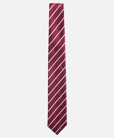 Maroon Stripe Tie Maroon/White