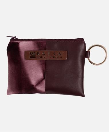 Batik Maroon Wallet Keychain Maroon