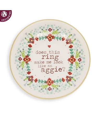 Texas A&M Circular Floral Aggie Ring Dish